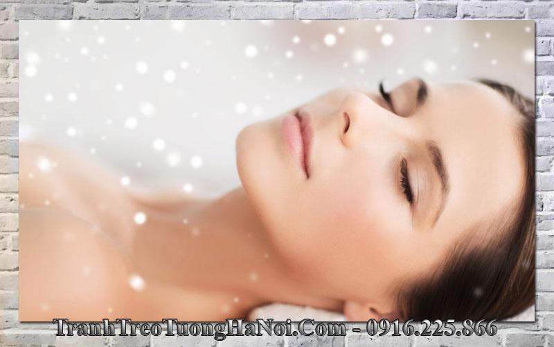 Tranh đẹp cô gái treo tường spa