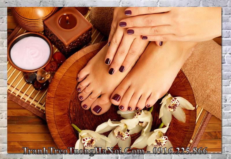 Tranh mẫu móng đẹp trang trí tiệm nail