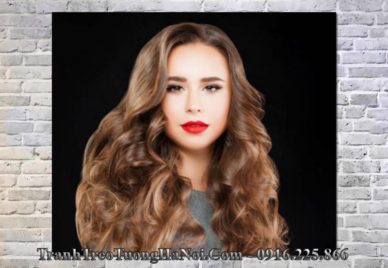 Tranh mẫu tóc đẹp treo tường spa