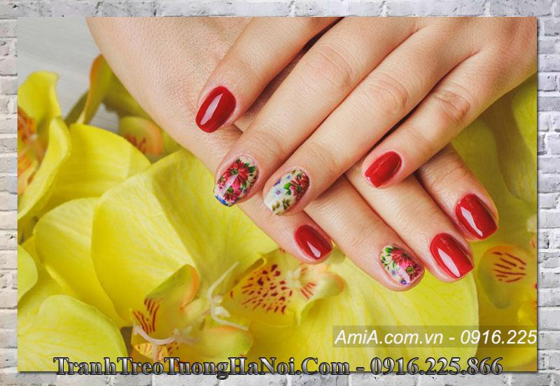Tranh đẹp treo tường nail spa