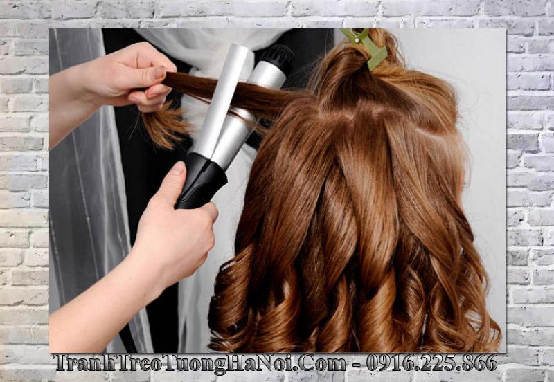 Tranh làm tóc đẹp trang trí spa salon tóc