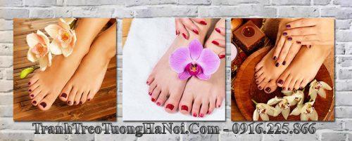 Tranh bàn chân đẹp trang trí nail spa