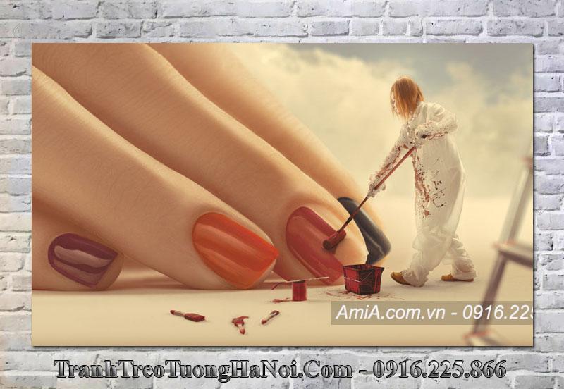 Traanh treo tường spa nail ấn tượng