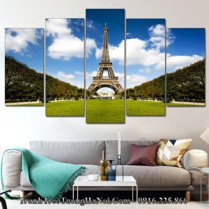 Tranh tháp Eiffel đẹp treo tường phòng khách