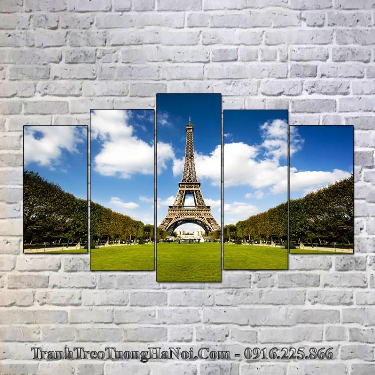 Tranh phong cảnh tháp Eifffel treo tường