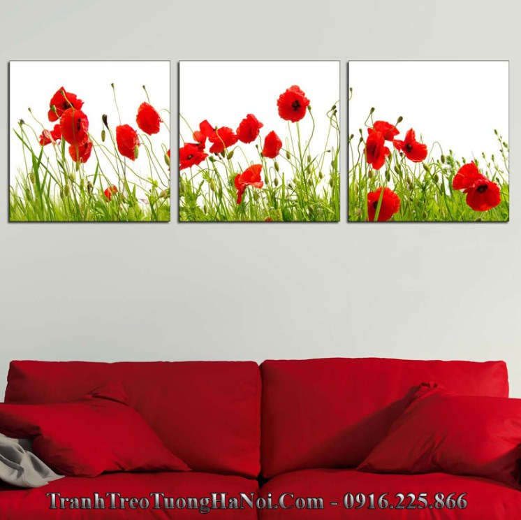 Tranh hoa đỏ hợp mệnh Lư Trung hỏa