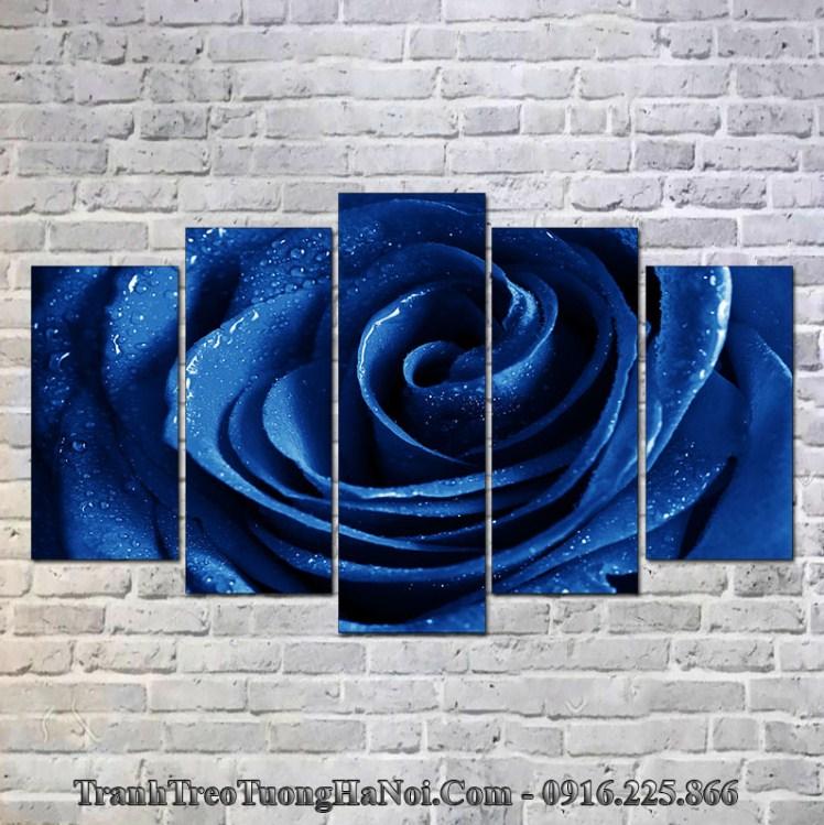 Tranh hoa hồng xanh hợp mệnh thủy 1982, 1983