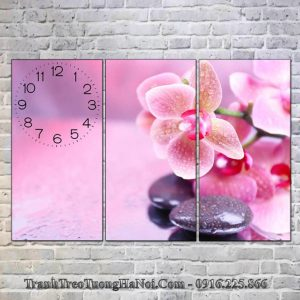 Tranh dong ho spa hoa da tim AmiA 1446C