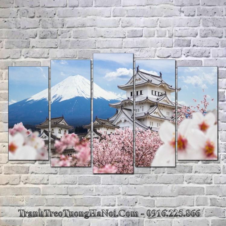 Tranh phong cảnh Nhật Bản treo tường thành Himeji