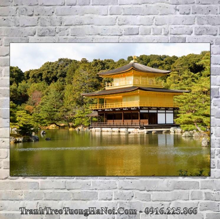 Tranh treo tường chùa Vàng hợp mệnh Giản Hạ Thủy