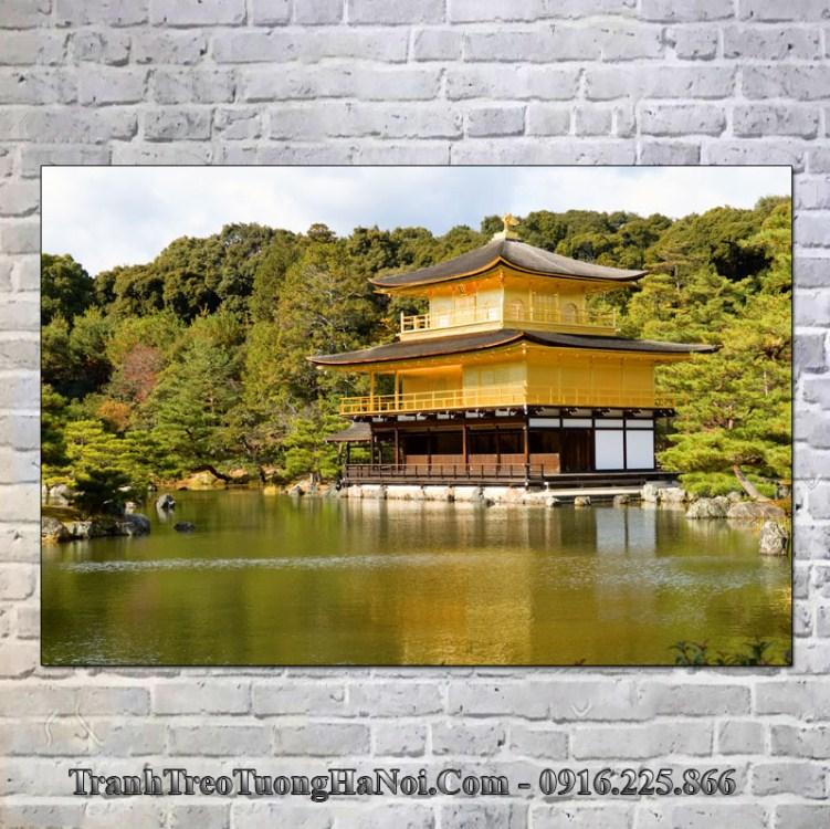 Tranh chùa vàng nhật bản treo tường