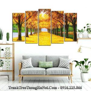 Tranh cây mùa Thu treo tường phòng khách