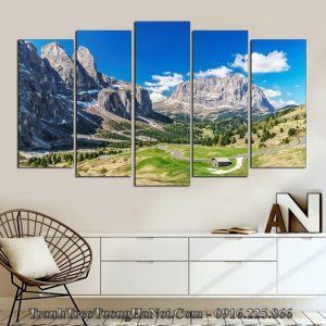Tranh phong cảnh núi đồi treo phòng khách