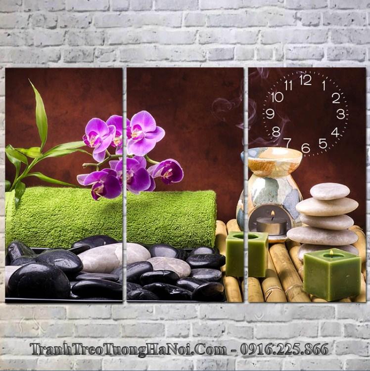 Tranh dong ho spa hoa nen huong tram AmiA 1626A