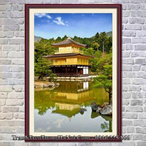 tranh phong cảnh nhật bản chùa vàng