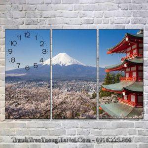 Tranh treo tường đẹp núi phú sỹ nhật bản