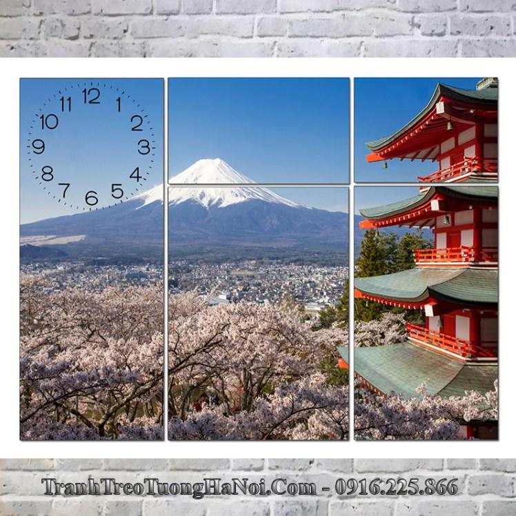 Tranh phong cảnh núi phú sỹ ở Nhật Bản