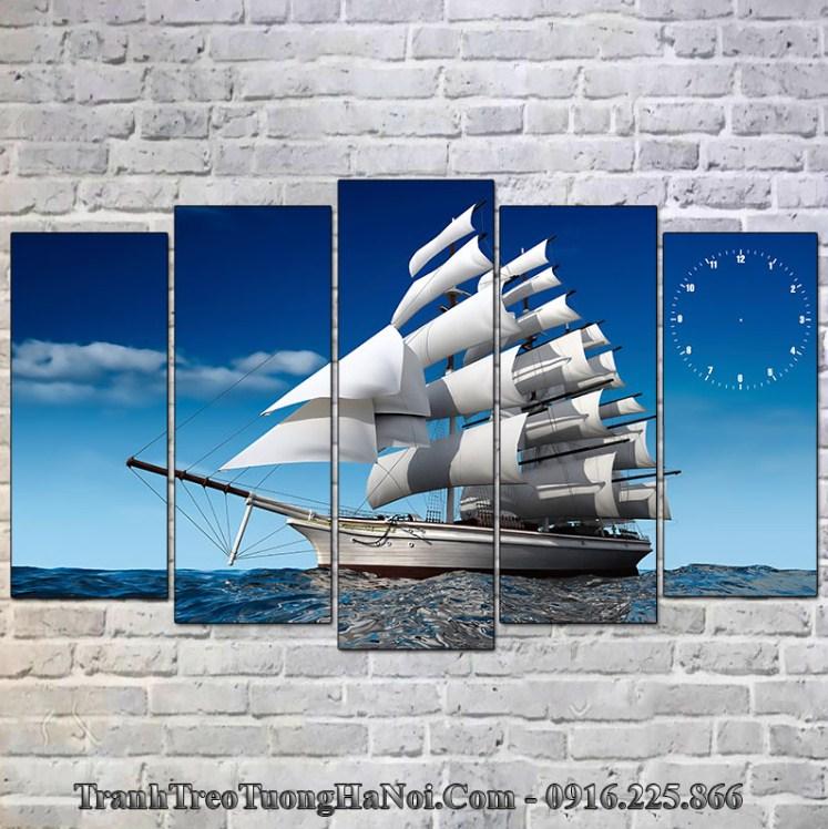 Tranh thuyền biển hợp mệnh thủy 1952,, 1953