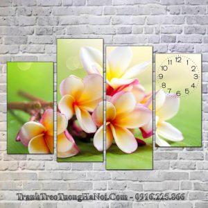 Tranh ghep hoa su treo tuong 4 tam