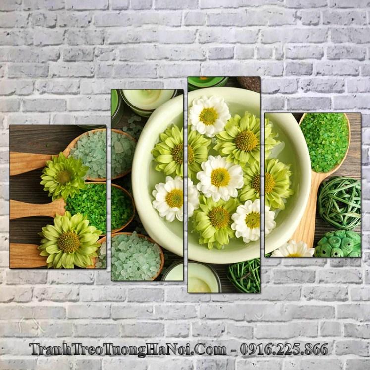 Tranh ghep spa 4 tam thao duoc hoa cuc