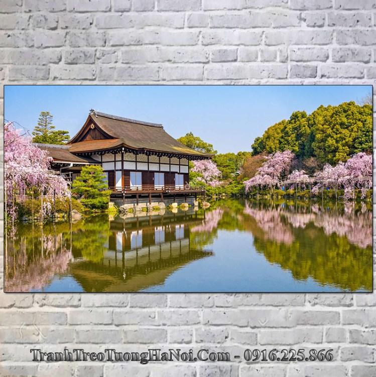 Tranh đền Heian Nhật Bản đẹp nổi tiếng