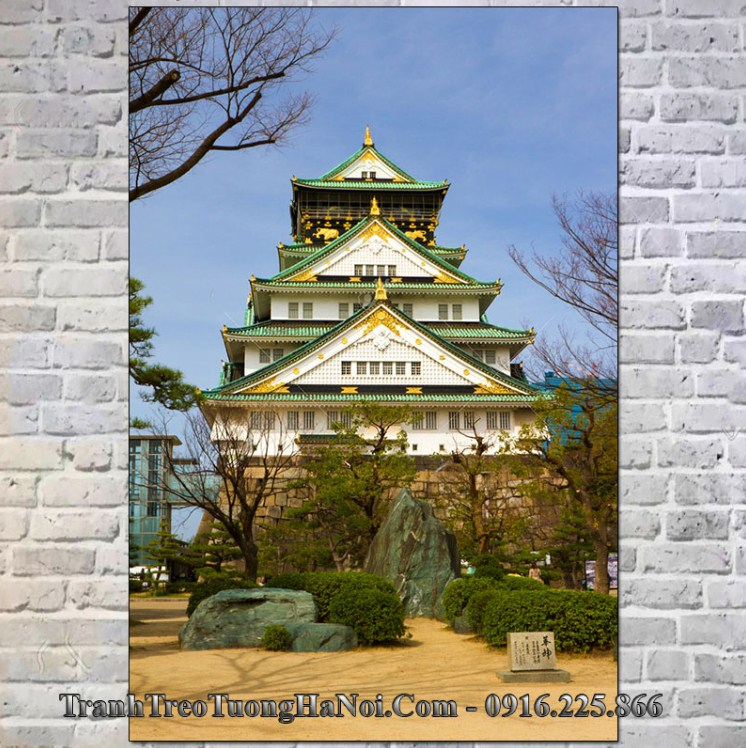 Tranh lâu đài osaka nổi tiếng nhật bản