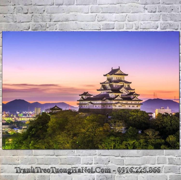 tranh đẹp lâu đài himeji nhật bản