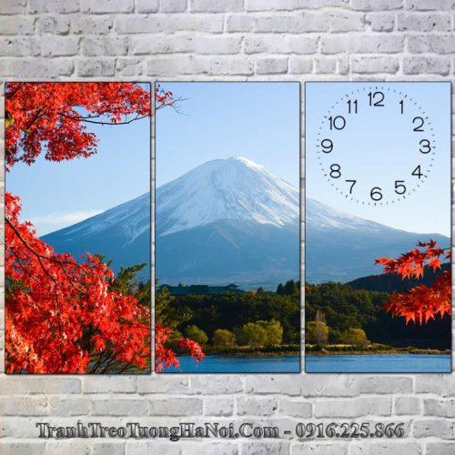 Tranh đẹp treo tường núi phú sỹ vào mùa thu