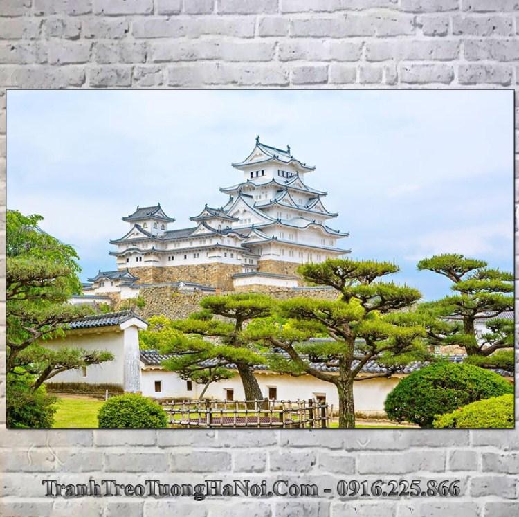 Tranh đẹp lâu đài himeji nhật bản treo tường