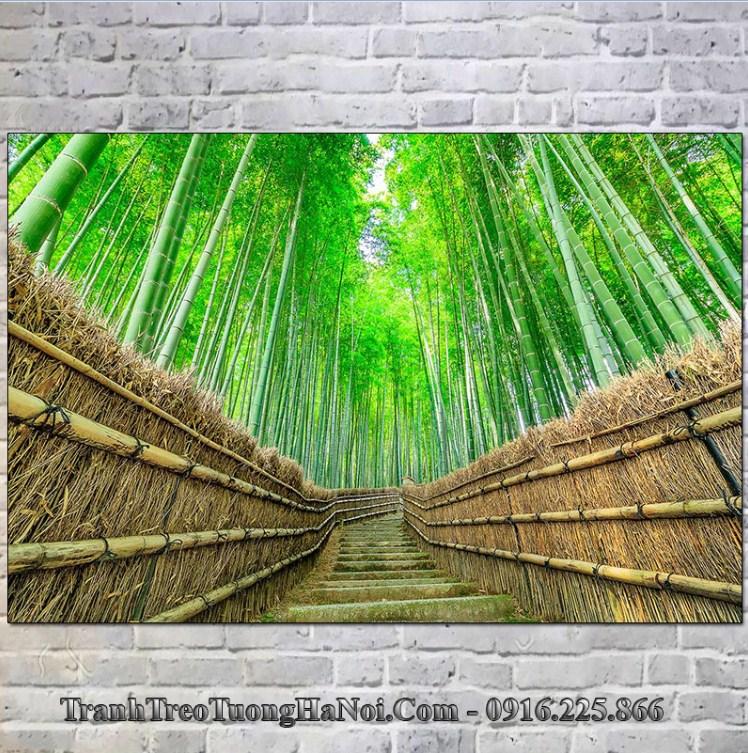 Tranh phong cảnh rừng trúc nổi tiếng Nhật Bản