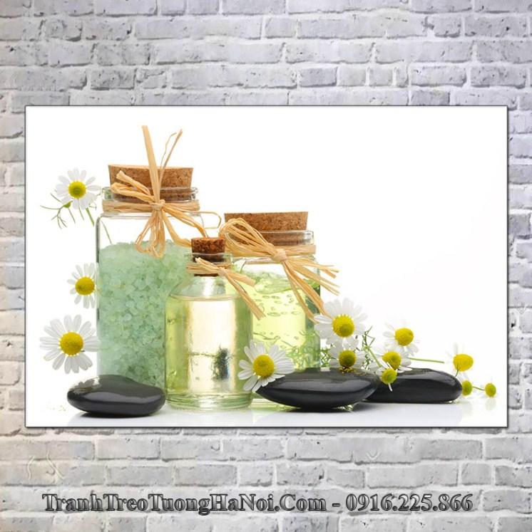 Tranh treo tường spa giá rẻ tinh dầu hoa cúc