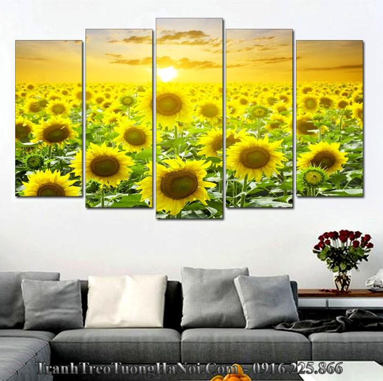 Tranh treo tường đồng hoa nắng thuộc Hỏa hợp Lộ Bàng Thổ