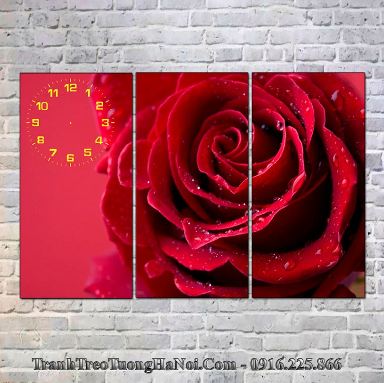 Tranh hoa hồng đỏ thuộc Hỏa hợp với người mệnh Bạch Lạp Kim