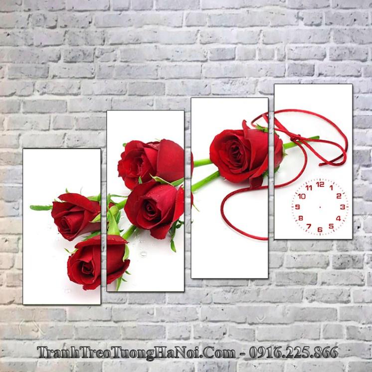 Tranh hoa hồng đỏ cho người Ốc Thượng Thổ