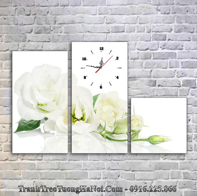 Tranh hoa hồng trắng thuộc Kim hợp với người mệnh Bạch Lạp Kim