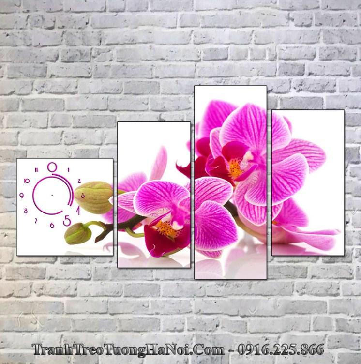 Tranh hoa lan tím thuộc hỏa hợp mệnh Thổ 1998, 1999