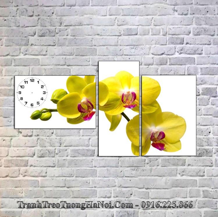 Tranh hoa lan vang cho nguoi menh kim