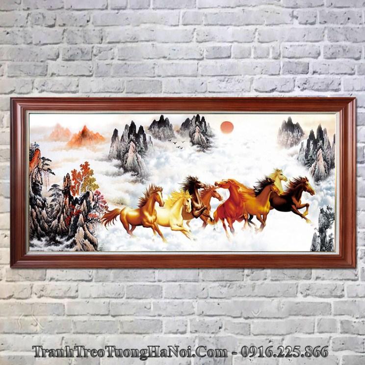 Tranh ngựa trên núi thuộc hỏa Thổ hợp Sa Trung Thổ