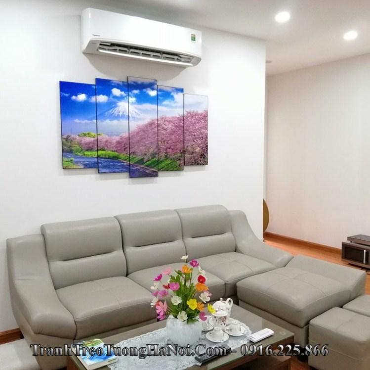 Tranh treo tường phòng khách đẹp phong cảnh Nhật Bản