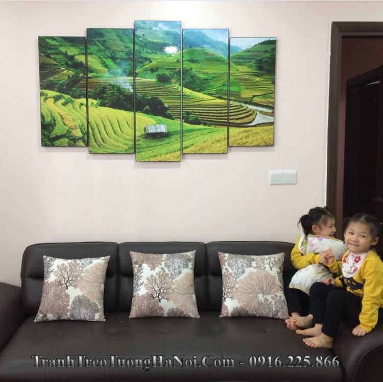 Tranh treo tường phong cảnh quê hương treo phòng khách đẹp nhất