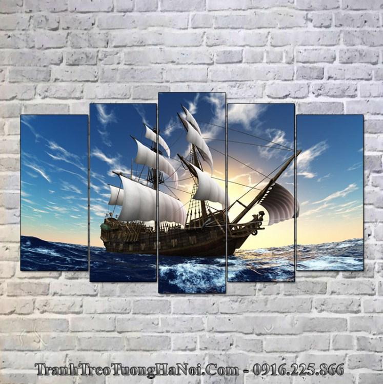 Tranh thuyền buồm hợp mệnh Kiếm Phong Kim