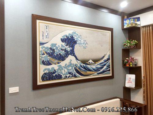 Tranh cổ Nhật Bản treo phòng khách đẹp AmiA 1546