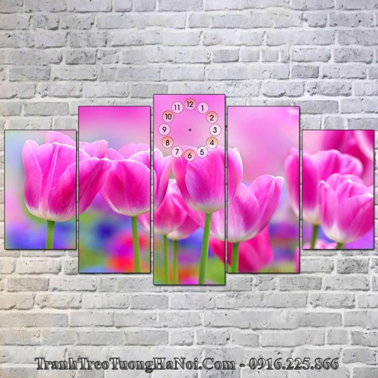Tranh hoa treo tường hợp Thoa Xuyến Kim