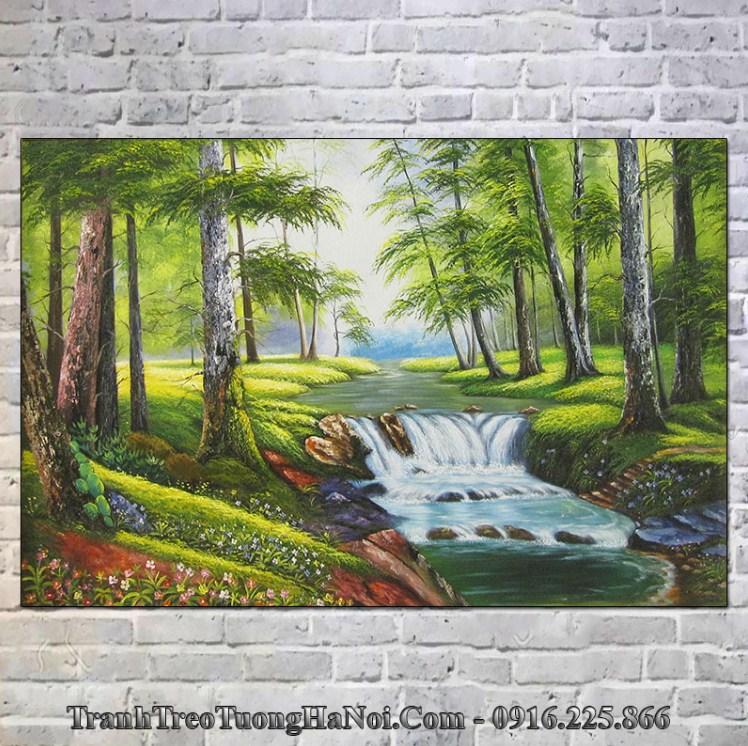 Tranh rừng cây nước chảy hợp Mộc 1972, 1973