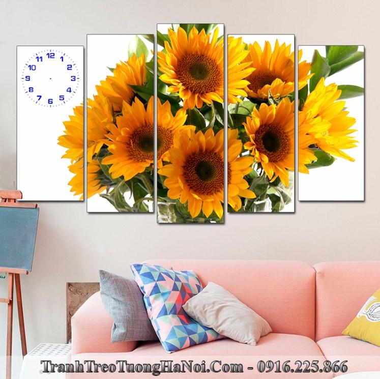 Tranh hoa huong duong treo phong khach duoc yeu thich amia 123