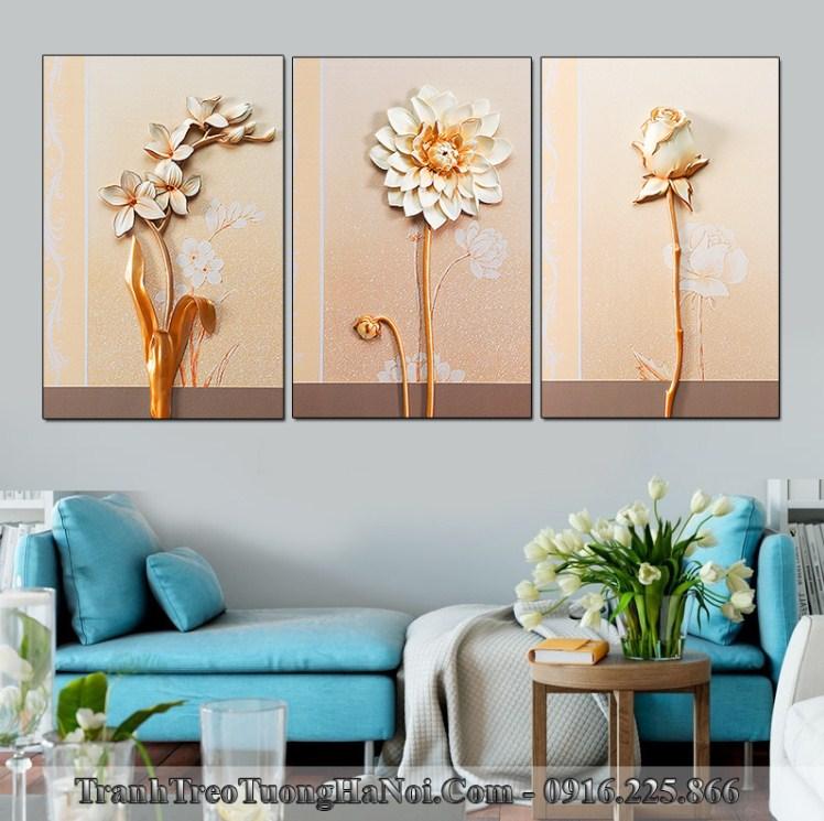 Tranh treo tuong phong khach dep hoa gia 3D