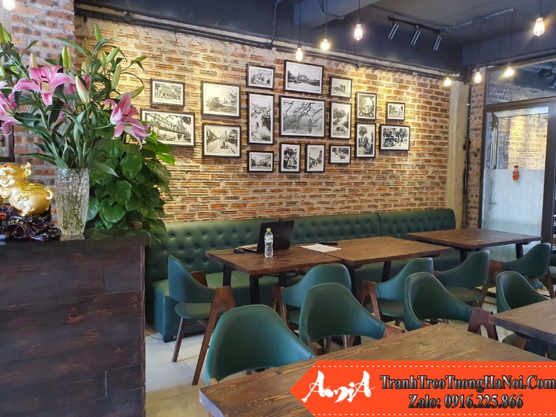 Bo khung tranh 18 tam AmiA 9996 treo tuong quan cafe