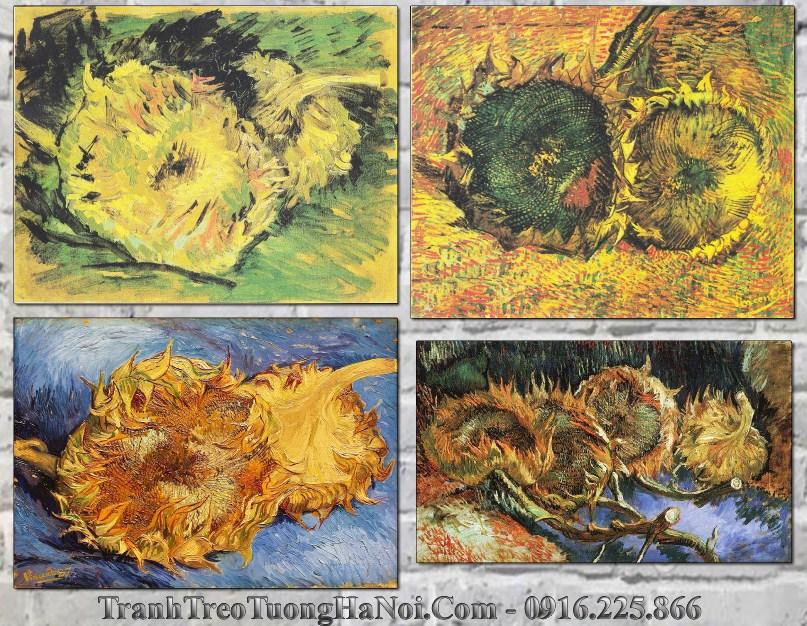 4 buc ve hoa huong duong ua tan cua van Gogh