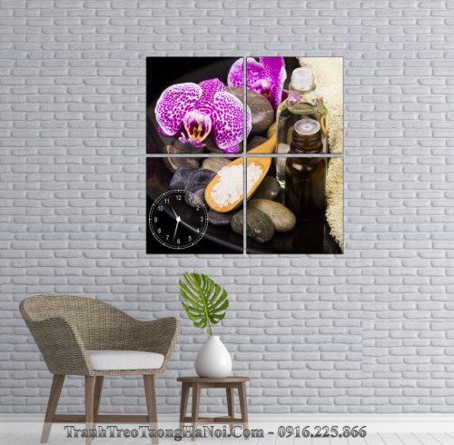 Dong ho tranh spa hoa lan da muoi AmiA SP124