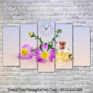 Tranh spa tinh dau hoa cuc kho lon ghep 5 tam SP93-pix3197276